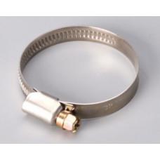 Хомуты из нержавеющей стали,  40-60 мм, ВИНТ, (упак-20,25/500 шт) ПРАКТИК