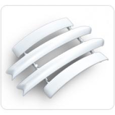 Набор комплектующих для наличника с кабель-каналом 70 мм, БЕЛЫЙ, (упак-25 наб) ИДЕАЛ