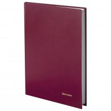 Книга учета 96 л., клетка, твердая, бумвинил, блок офсетный, А4(200*290 мм), OfficeSpace, КРАСНЫЙ