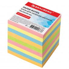 Блок для записей BRAUBERG непроклеенный, куб 9*9*9 см, ЦВЕТНОЙ