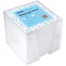 Блок для записи OfficeSpace, 9*9*9cm, пластиковый бокс, белый 159722