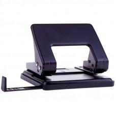 Дырокол OfficeSpace 20л., металлический, черный, с линейкой Р2041_1865ВК