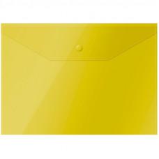 Папка-конверт с кнопкой OfficeSpace А4, 150 мкм, ЖЕЛТАЯ