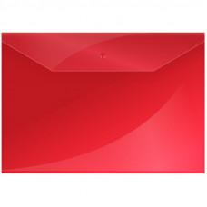 Папка-конверт с кнопкой OfficeSpace А4, 150 мкм, КРАСНАЯ