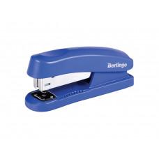 """Степлер №24/6, 26/6 Berllingo """"Universal"""" до 30л., пластиковый корпус, синий H31001"""
