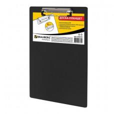 Папка-планшет BRAUBERG «NUMBER ONE» с верхним прижимом А4, 228*318 мм, картон/ПВХ, ЧЕРНЫЙ