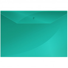 Папка-конверт с кнопкой OfficeSpace А4, 150 мкм, ЗЕЛЕНАЯ