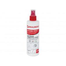 Чистящая жидкость-спрей для маркерных досок BRAUBERG, 250 мл