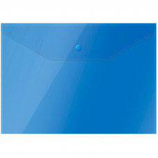 Папка-конверт с кнопкой OfficeSpace А4, 150 мкм, СИНЯЯ