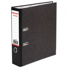 Папка-регистратор 80 мм ОФИСМАГ, фактура стандарт с мраморным покрытием, ЧЕРНЫЙ корешок