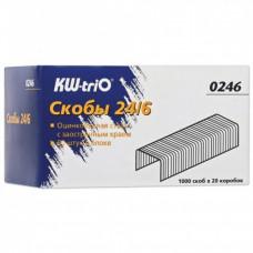 Скобы для степлера №24/6, KW-trio, 1000 штук, до 30 листов