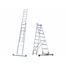Лестница алюминиевая, 2 секции по 10 ступеней, НОВАЯ ВЫСОТА НВ122