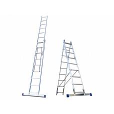 Лестница алюминиевая, 2 секции по 11 ступеней, НОВАЯ ВЫСОТА НВ122