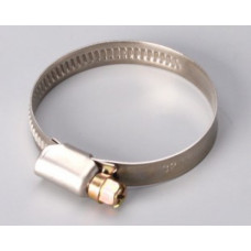 Хомуты из нержавеющей стали,  80-100 мм, ВИНТ, (упак-25/500 шт) ПРАКТИК
