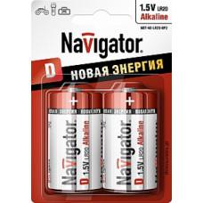 Батарейка NAVIGATOR NBT-NE-LR20-BP2, (упак-2 шт) КИТАЙ