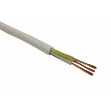 Провод соединительный ПВС 3*2,5 кв.мм, БЕЛЫЙ, (упак-100 пог.м)