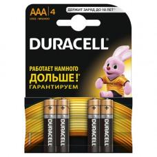 Батарейка DURACELL LR03- 4BL, BASIC CN, (упак-4/48 шт) БЕЛЬГИЯ