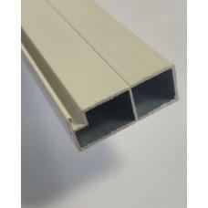 Профиль москитной сетки дверной S42, 42*17*6000 мм, БЕЛЫЙ, (упак-36 пог.м)
