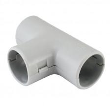 Тройник для трубы гладкой D16 мм,