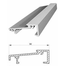 Порог алюминиевый KBE, L=6000 мм