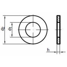 Шайба DIN125/A2 M 28, (упак-50 шт)
