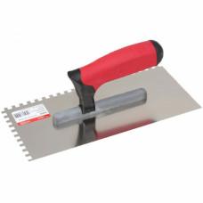 Гладилка 130*270 мм, CORTE 0242C , ЗУБЧАТАЯ  6*6 мм, профессиональная ручка