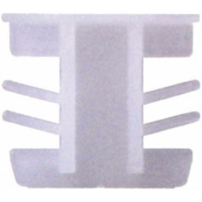 Торцевая пробка 5*18 мм, пластиковая, БЕЗ ФИКСАТОРА, БЕЛАЯ, (упак-1000 шт) ELISABET
