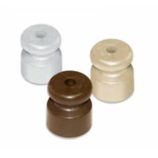 Изолятор-ролик для открытой проводки, БЕЛЫЙ, (упак-100 шт)