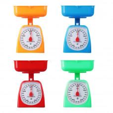 Весы кухонные механические с пластиковой чашей 2 л, нагрузка до 5 кг, 4 цвета, арт.СХ-129