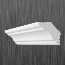 Плинтус декоративный потолочный K- 25, L=2000 мм, БЕЛЫЙ, (упак-240 шт)