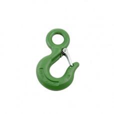 Крюк для канатных строп GM-HL  3,4 т, с проушиной и предохранителем