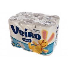 Бумага туалетная VEIRO 2-х сл., 12 рулонов
