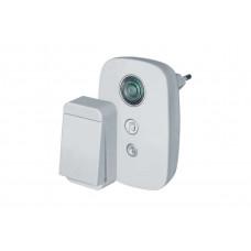 Дверной звонок беспроводной NAVIGATOR NDB-D-AC01-1V1-WH электрический, 29 мелодий, кнопка не требует ЭП
