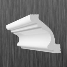 Плинтус декоративный потолочный C- 50, L=2000 мм, БЕЛЫЙ, (упак-60/80 шт)
