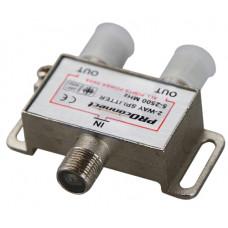 Делитель ТВ*2 под F-разъем 5-2500 МГц, PROCONNECT, СПУТНИК