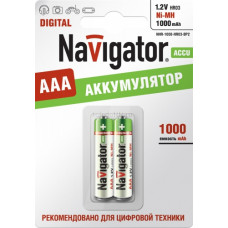 Аккумулятор NAVIGATOR NHR-1000-HR03-BP2, (упак-2 шт) КИТАЙ