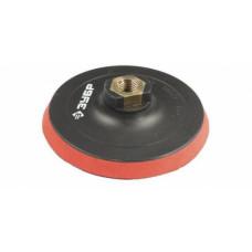 Тарелка опорная для дрели D115 мм, шпилька D8 мм, резиновая под круг на липучке, ЗУБР