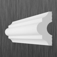 Плинтус декоративный потолочный I- 40, L=2000 мм, БЕЛЫЙ, (упак-120 шт)