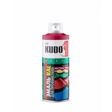 Краска аэрозоль, для металлочерепицы КОРИЧНЕВО-КРАСНЫЙ, KU-03011-R, 520 ml, (упак-6 шт) KUDO