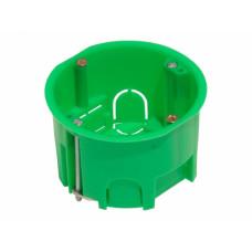 Коробка распределительная  80* 45 мм, КР1202, для полых стен с крышкой, пластиковые лапки, HEGEL