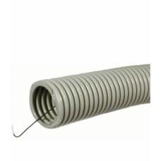 Труба ПНД гофрированная с зондом, D25 мм, ЧЁРНЫЙ, (упак-50 пог.м) ИЭК