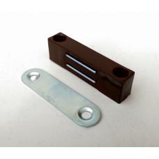 Магнитный держатель, пластиковый, КОРИЧНЕВЫЙ, (упак-100 шт)