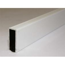 Профиль поперечный под шнур, БЕЛЫЙ, L=6000 мм, (упак-120 пог.м)