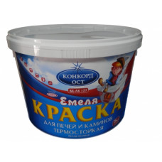 Краска ДЛЯ ПЕЧЕЙ и КАМИНОВ термостойкая СУПЕРБЕЛАЯ 1,3 кг ВД-АК-127 ЕМЕЛЯ