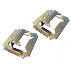 Кляймер для вагонки 4 мм, оцинкованные гвозди в комплекте, (упак-100/7500 шт)