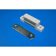 Магнитный держатель, пластиковый, БЕЛЫЙ, (упак-100 шт)
