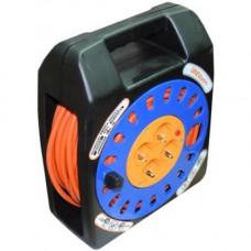 Удлинитель электрический на катушке, 30 м, 10 А, 4 евророзетки, заземление, UNIVersal