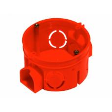 Коробка установочная D68 * 45 мм, КУ1101, для сплошных стен, пластиковые лапки, HEGEL