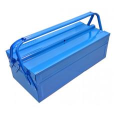 Ящик для инструмента, 430*200*150 мм, 3 отделения, металлический, СИНИЙ