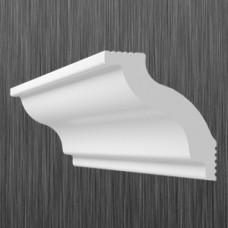 Плинтус декоративный потолочный C- 45, L=2000 мм, БЕЛЫЙ, (упак-90 шт)